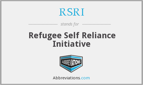 RSRI - Refugee Self Reliance Initiative