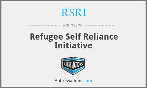 RSRI - Refugee Self Reliance Initiative