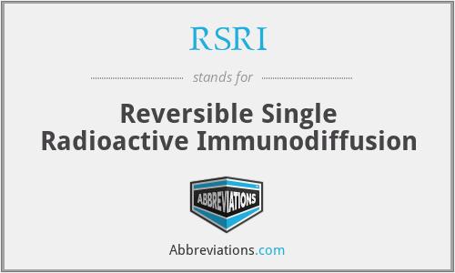 RSRI - Reversible Single Radioactive Immunodiffusion