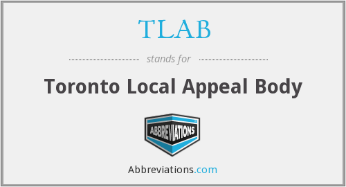 TLAB - Toronto Local Appeal Body