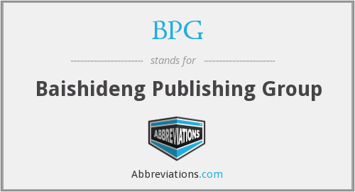 What does BPG stand for?