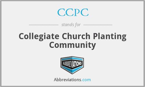 CCPC - Collegiate Church Planting Community