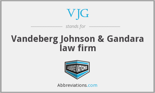What does VJG stand for?