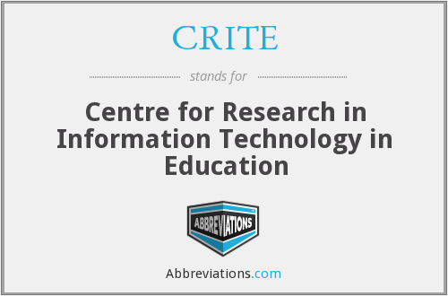 What does CRITE stand for?