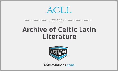 ACLL - Archive of Celtic Latin Literature
