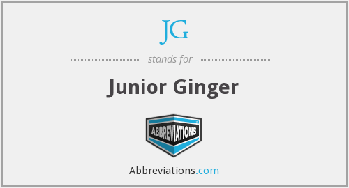 JG - Junior Ginger