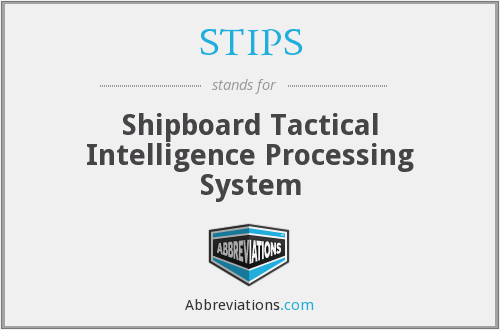 STIPS - Shipboard Tactical Intelligence Processing System