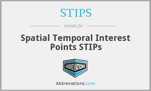 STIPS - Spatial Temporal Interest Points STIPs