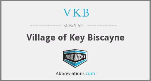 VKB - Village of Key Biscayne