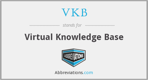 VKB - Virtual Knowledge Base