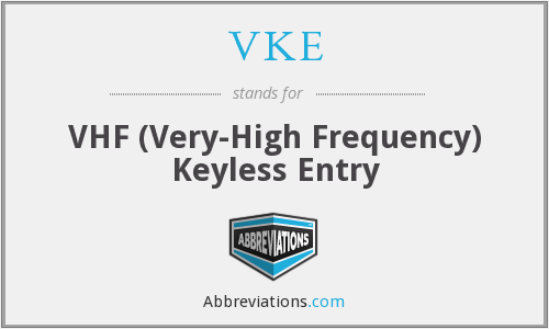 VKE - VHF (Very-High Frequency) Keyless Entry