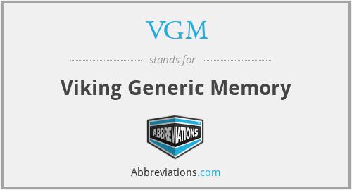 VGM - Viking Generic Memory