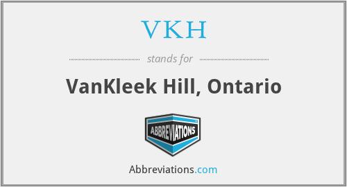 VKH - VanKleek Hill, Ontario