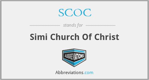 SCOC - Simi Church Of Christ