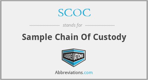 SCOC - Sample Chain Of Custody