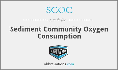 SCOC - Sediment Community Oxygen Consumption