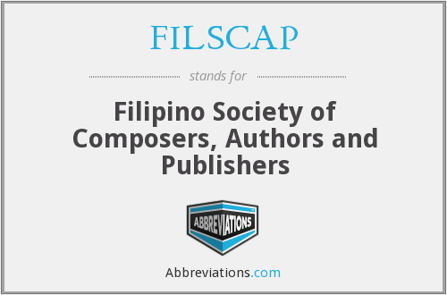 FILSCAP - Filipino Society of Composers, Authors and Publishers