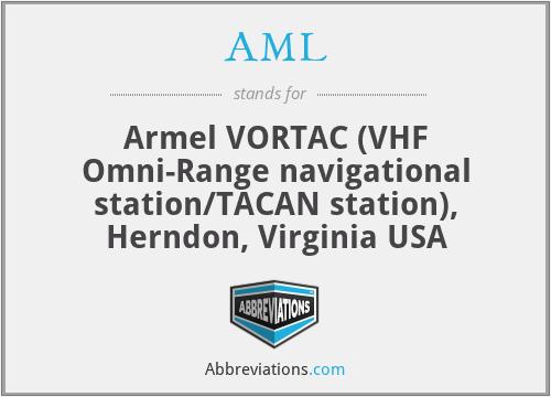 AML - Armel VORTAC (VHF Omni-Range navigational station/TACAN station), Herndon, Virginia USA