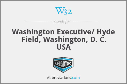 W32 - Washington Executive/ Hyde Field, Washington, D. C. USA