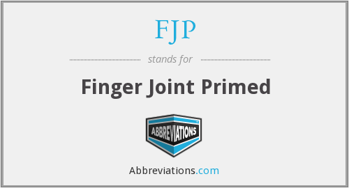 FJP - Finger Joint Primed