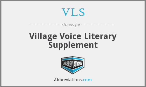 VLS - Village Voice Literary Supplement