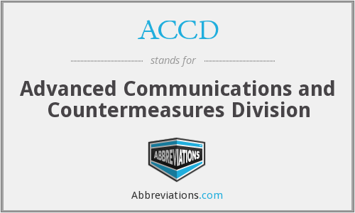 ACCD - Advanced Communications and Countermeasures Division