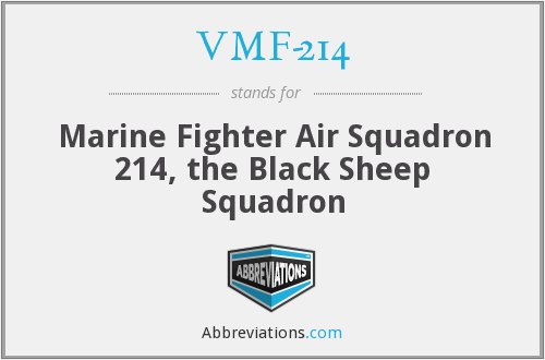 What does VMF-214 stand for?