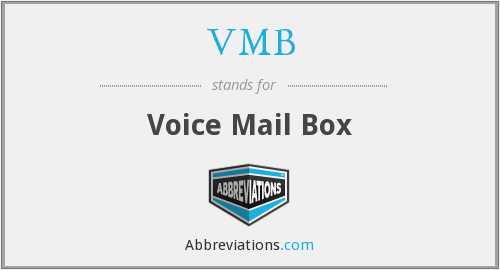 VMB - Voice Mail Box