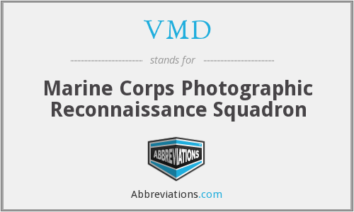 VMD - Marine Corps Photographic Reconnaissance Squadron