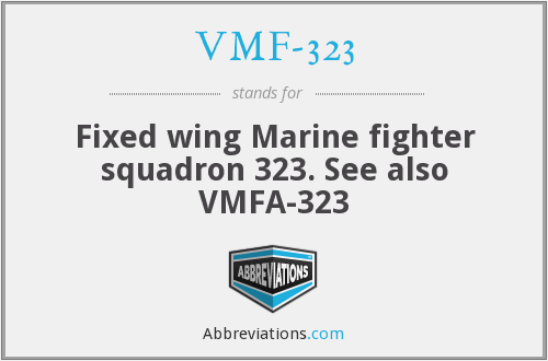 What does VMF-323 stand for?