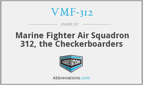 What does VMF-312 stand for?