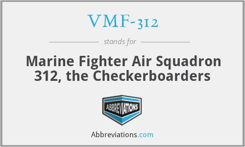 VMF-312 - Marine Fighter Air Squadron 312, the Checkerboarders