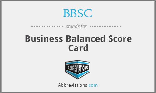BBSC - Business Balanced Score Card