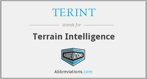 What does TERINT stand for?