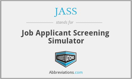JASS - Job Applicant Screening Simulator
