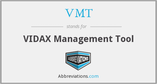 VMT - VIDAX Management Tool