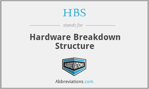 HBS - Hardware Breakdown Structure