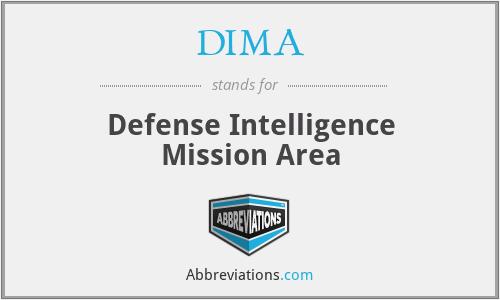 DIMA - Defense Intelligence Mission Area