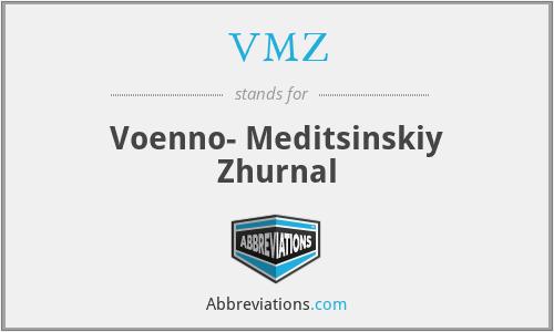 VMZ - Voenno- Meditsinskiy Zhurnal