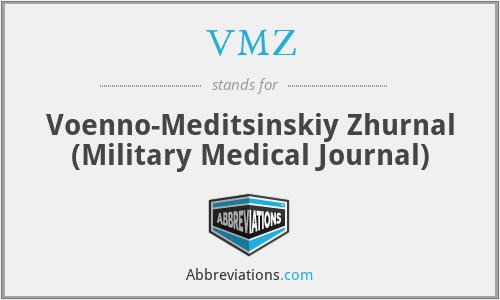 VMZ - Voenno-Meditsinskiy Zhurnal (Military Medical Journal)