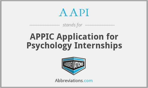 AAPI - APPIC Application for Psychology Internships