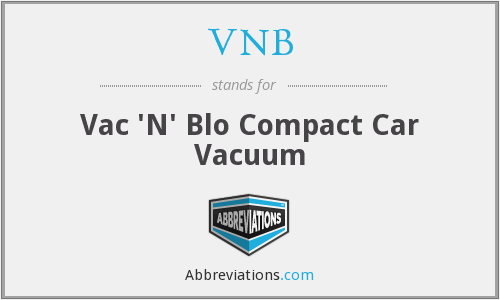 VNB - Vac 'N' Blo Compact Car Vacuum