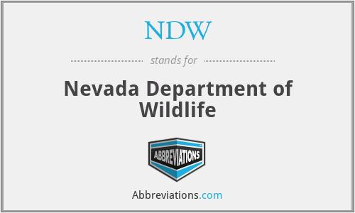 NDW - Nevada Department of Wildlife