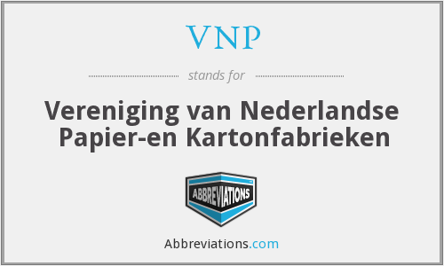 VNP - Netherlands Association of Paper and Board Producers