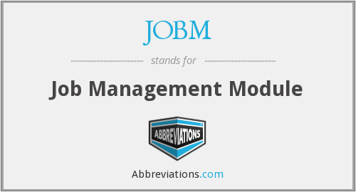 What does JOBM stand for?
