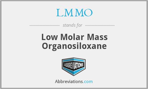 LMMO - Low Molar Mass Organosiloxane
