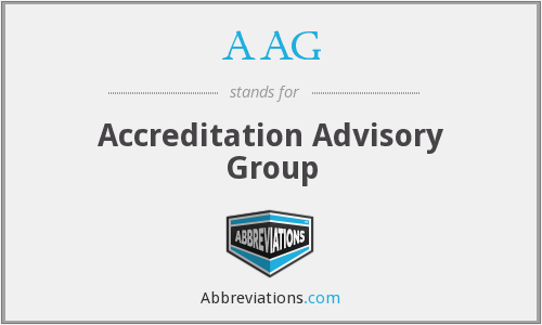 AAG - Accreditation Advisory Group