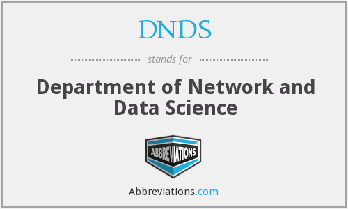 DNDS - Department of Network and Data Science