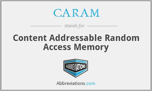 CARAM - Content Addressable Random Access Memory