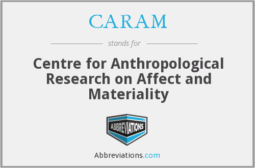 CARAM - Centre for Anthropological Research on Affect and Materiality